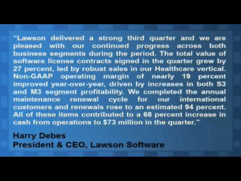 Lawson Software Reports Strong Q3 Results