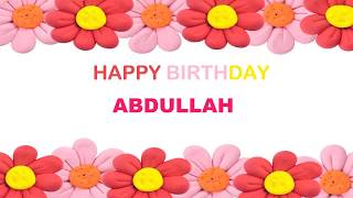 Abdullah   Birthday Postcards & Postales