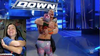 WWE Smackdown 1/7/16 Kalisto w Cena vs Del Rio