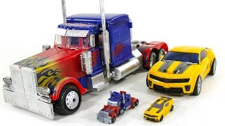 Transformers Big OverSized 50cm Custom Optimus Prime Battle OPS Bumblebee Vehicle Car Robots Toys