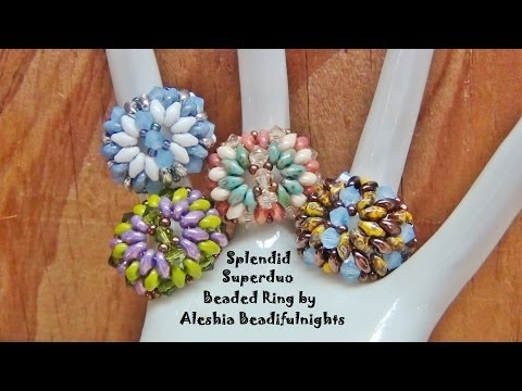 Splendid Superduo Beaded Ring Tutorial