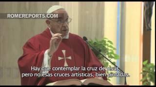 Francisco en Santa Marta explica el significado de la Cruz