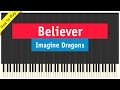Imagine Dragons - Believer - Piano Cover (How To Play Tutorial).mp3