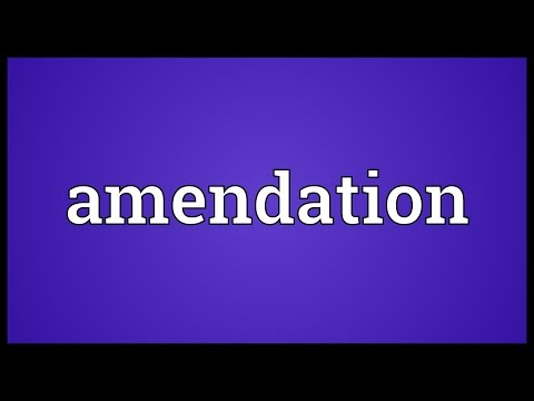 Header of Amendation