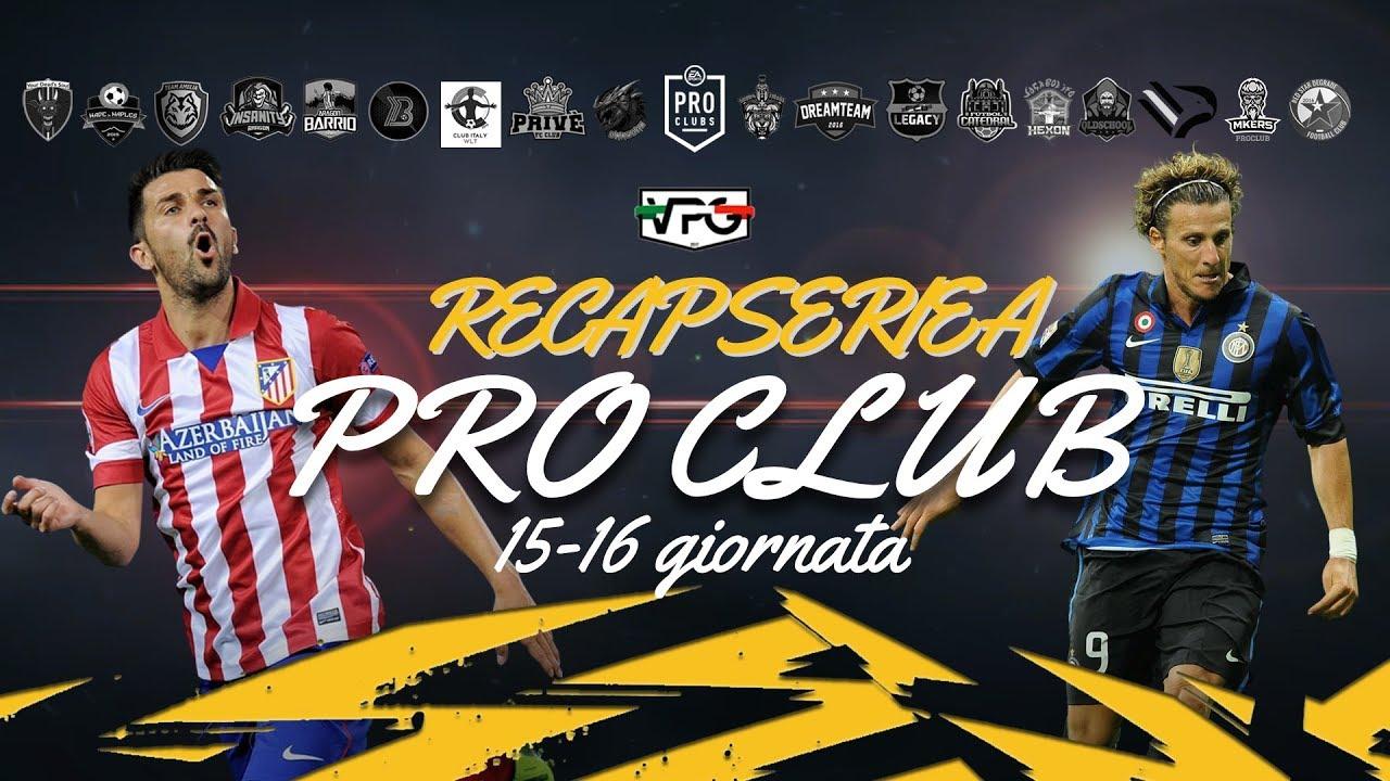 Recap Serie A Vpg Diretta Gol Pro Club 15 16  E2 9a Bd Youtube