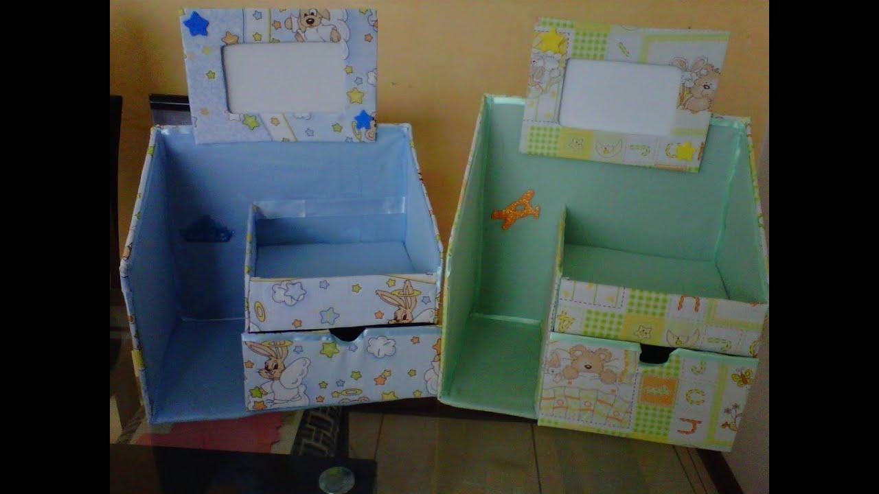 Novedades organizador hecho de cart n para beb s - Cajas decoradas para bebes ...