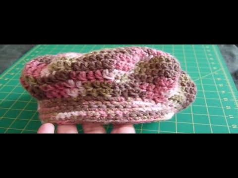 Crochet Vlog: Pink Camo Newsboy Hat