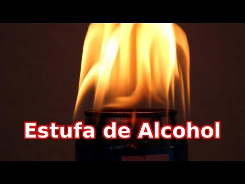 Estufa Casera de Alcohol con Material Reciclado