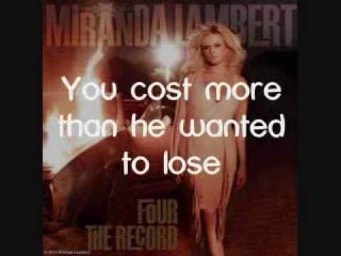 Miranda Lambert - Dear Diamond [Lyrics On Screen]