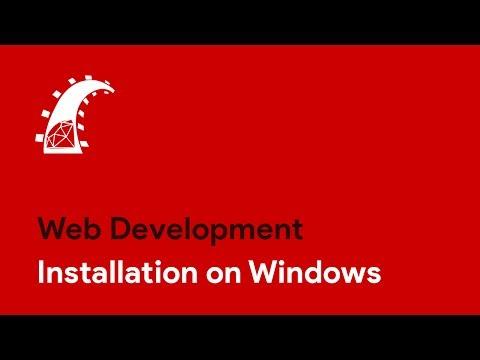 Ruby on Rails - Installing on Windows
