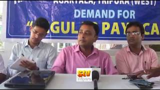 TET Teacher's press meet in Agartala on 15-07-2018