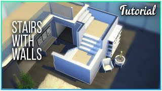 Sims 4 Tutorial - L Shaped Stairs With Walls | Kate Emerald