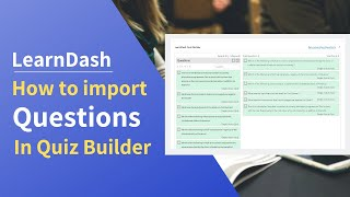 How to import quiz to learndash quiz builder