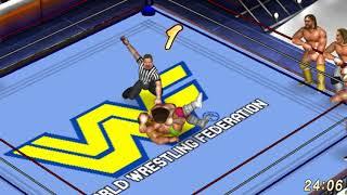 Fire Pro Wrestling World Sims - The Hulkamanics vs Team Flair