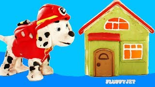 Paw Patrol Marshall Saves the day! Fire Rescue Cartoon kids video