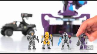 Halo Mega Bloks Rockethog vs Anti-Aircraft Turret 96923.mov
