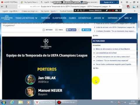 Equipo de la Temporada 2015-2016 de la UEFA Champions League
