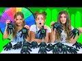 Mystery Wheel of Halloween Gloves Slime Challenge!