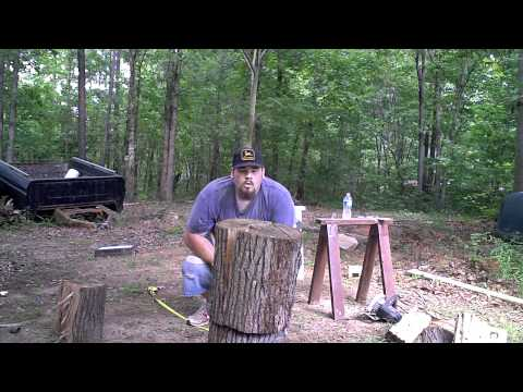 Splitting Old Sweet Gum