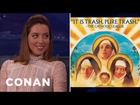 The Catholic League Condemned Aubrey Plaza's New Movie  - CONAN on TBS