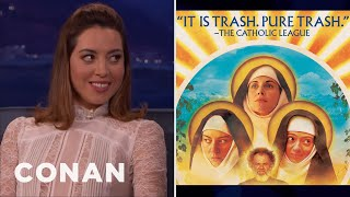 The Catholic League Condemned Aubrey Plaza's New Movie  - CONAN on TBS