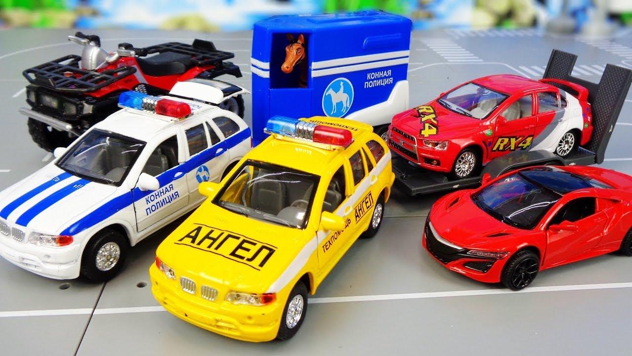 Машинки с прицепами модели Технопарк