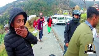 Bike accident | Pokhara | Way to Syangja | Motovlog live footage | Siddhartha Highway | Pulsar 220