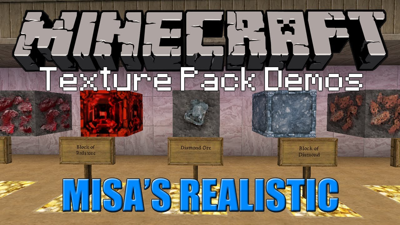Minecraft Texture Pack - Misa's Realistic (1.5.2) - YouTube