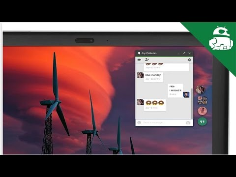 Google Hangouts Chrome App (Chat-Head style) Quick Look!