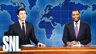 Weekend Update: Colin Jost and Michael Che Switch Jokes - SNL (Paul Rudd)