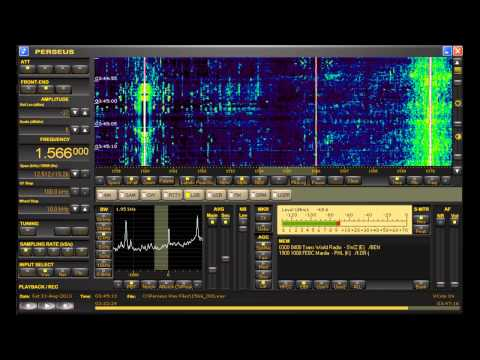 1566 kHz More African MW DX from Trans World Radio Benin on Perseus SDR