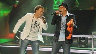 """The Voice of Poland - Mariusz Kozak i Mirosław Witkowski - """"I Got You (I Feel Good)"""" - Bitwa"""