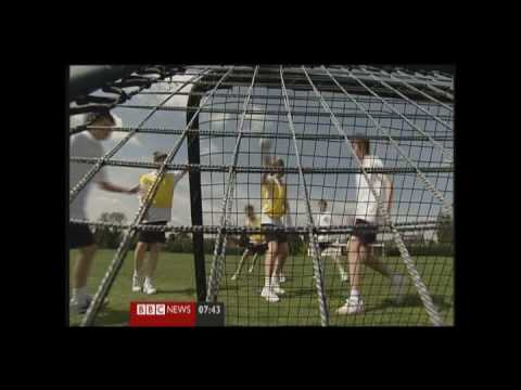 """Crazy Catch  in School Sports"" -  BBC Sports News  with Mike Bushell"