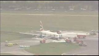 BA038 Plane Crash - London Tonight coverage part 1