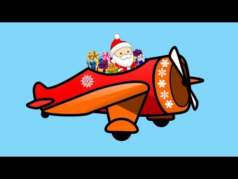Про самолет Деда Мороза. Игрушки. Трактор. Полицейская машинка