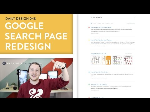 Daily Design 048 - Google Search Page Redesign (Speed Design)