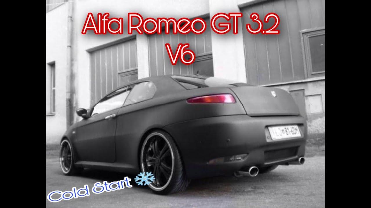 alfa romeo gt 3 2 v6 cold start youtube. Black Bedroom Furniture Sets. Home Design Ideas
