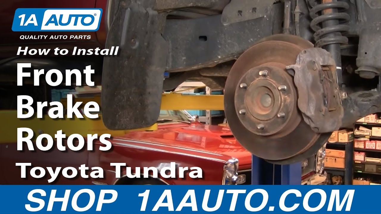 How To Install Replace Front Brake Rotors Toyota Tundra 00