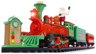 TRAINS FOR CHILDREN VIDEO: New Bright Christmas Train Santa Claus Express Toys Review 2016-2017