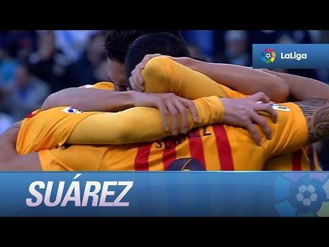 Luis Suárez marca 4 goles frente al Deportivo de la Coruña