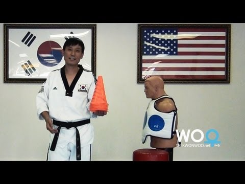 Taekwondo training tips: Practice hook kick on kicking bag (taekwonwoo) Image 1