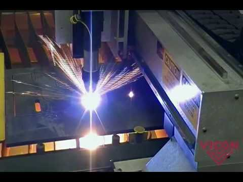 Vicon Elite Precision Plasma Cutting Table - cutting thick steel plate