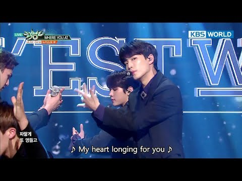 NU'EST W (뉴이스트 W) - WHERE YOU AT [Music Bank HOT Stage  2017.10.20]