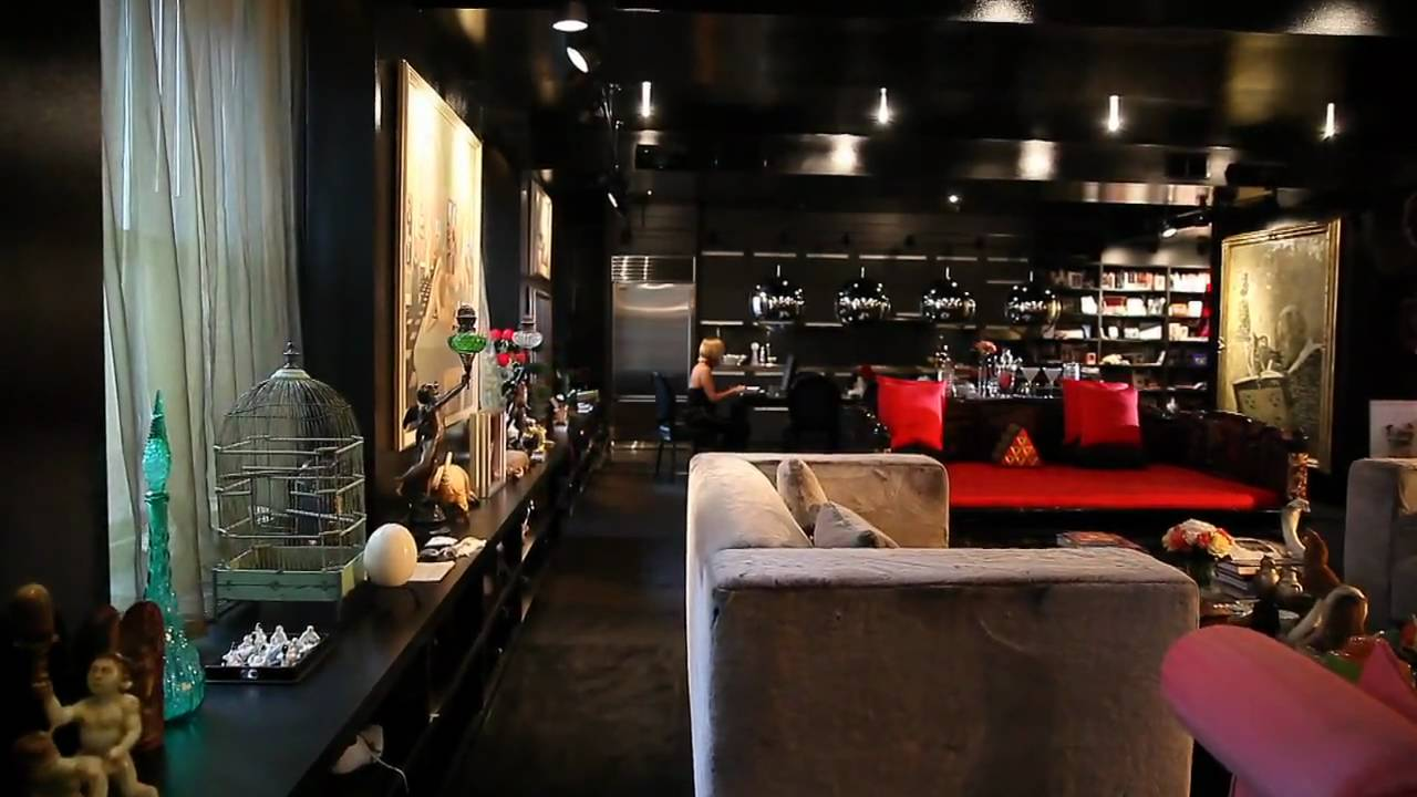 Bold Color Small Space The Black Apartment Youtube