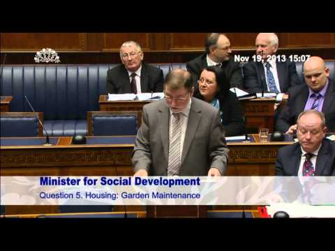 Question Time: Social Development Tuesday 19 November 2013