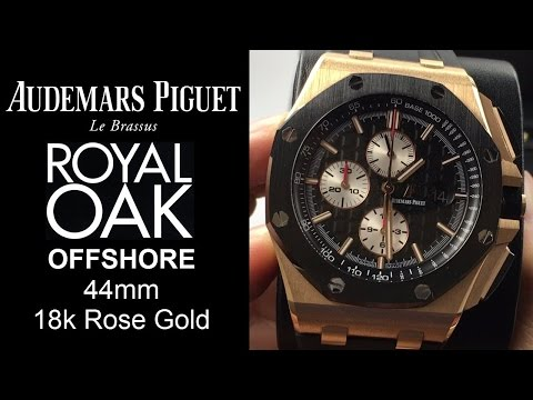▶ ROSE GOLD Audemars Piguet Royal Oak Offshore 44mm. Black UNBOXING & REVIEW - 26401RO.OO.A002CA.01
