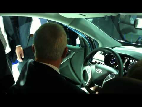 IAA 2011 Hyundai new  generation i30 and Martin Winterkorn (Chairman of the Volkswagen AG)