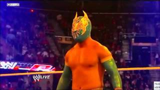 Sin Cara interferes between a Match of Cody Rhodes and Sin Cara HQ
