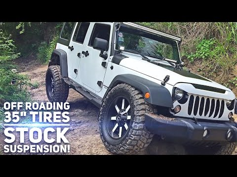Off Roading with 35 Inch Tires on Stock Jeep Wrangler Suspension… Is Trail Articulation Possible?