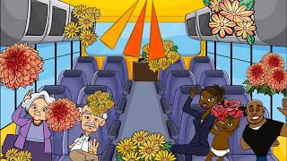 Funny English song & animation & best nursery rhymes for kids & babies & children bus